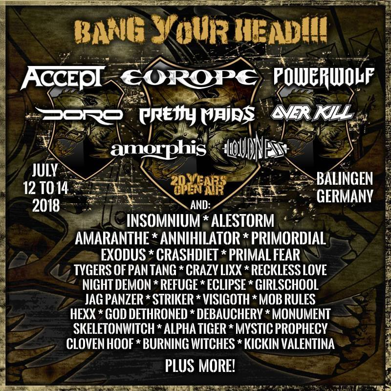 Bang Your Head 2018