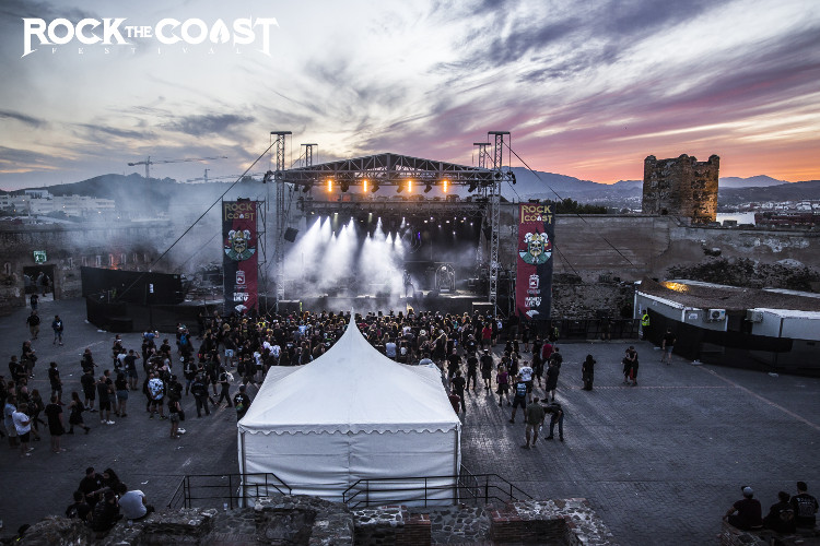 Escenari Castell Rock the coast