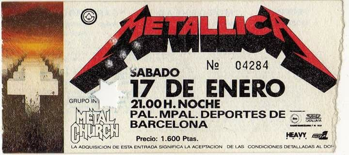 Gira del Master of Puppets
